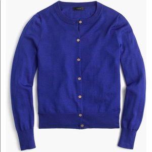 J. CREW Lightweight Wool Jackie Cardigan Sweater